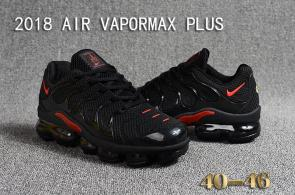 air vapormax plus baskets basses black red